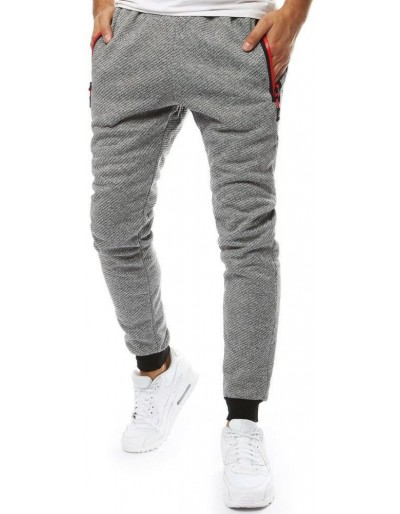 Světle šedé pánské běžecké kalhoty UX2121