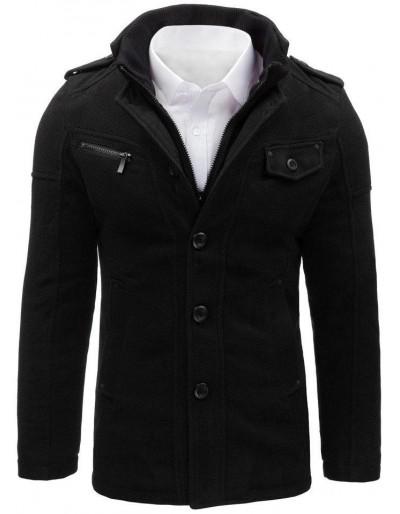 Pánský černý kabát CX0399
