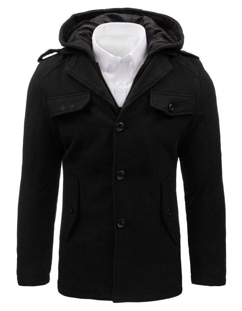 Pánský černý kabát CX0400