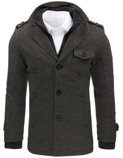 Pánský šedý rybí kabát CX0404