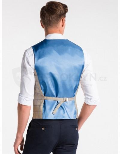Men's vest V49 - camel
