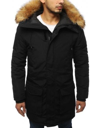 Pánská černá zimní parka bunda TX3006