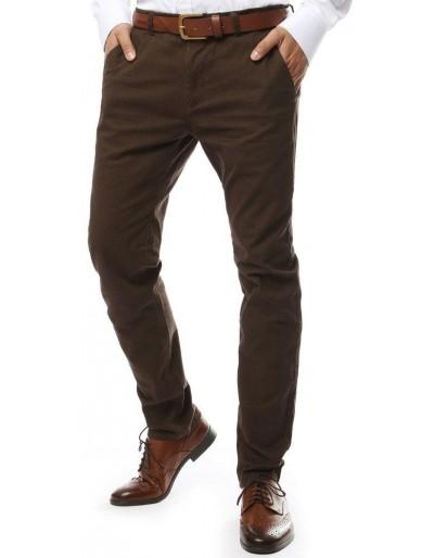 Hnědé pánské chino kalhoty UX2134