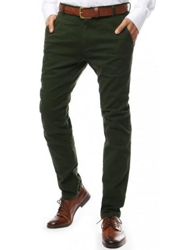 Zelené pánské chino kalhoty UX2137
