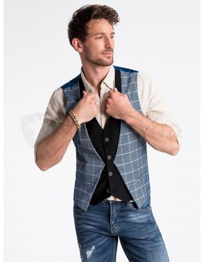 Men's vest V49 - blue