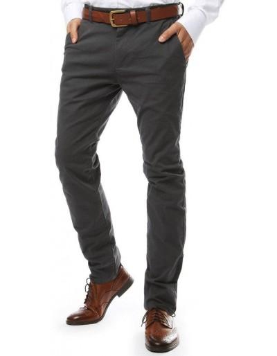 Šedé pánské chino kalhoty UX2142
