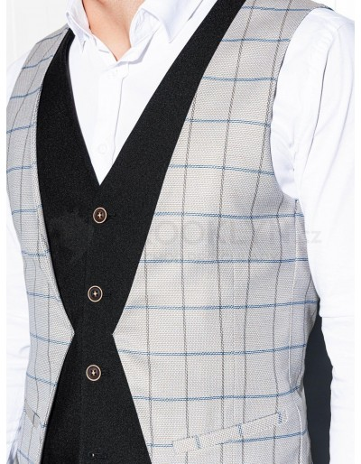 Men's vest V49 - grey