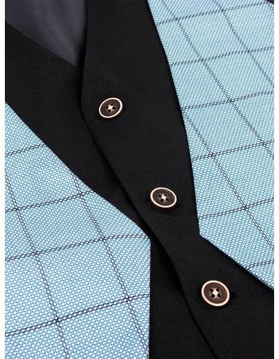 Men's vest V49 - light blue