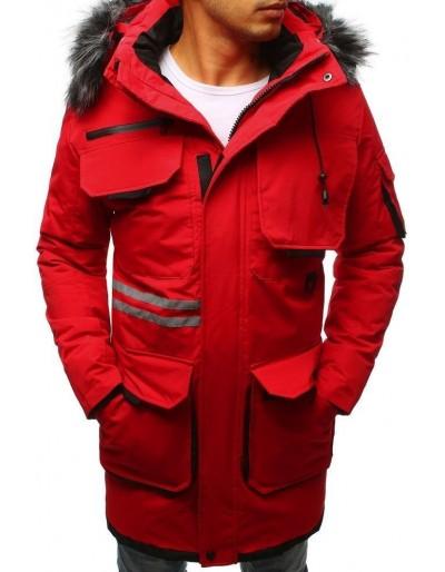 Červená pánská zimní bunda TX3041