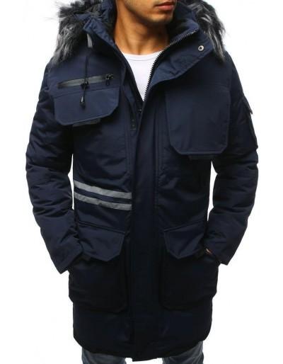 Námořnická modrá pánská zimní bunda TX3042