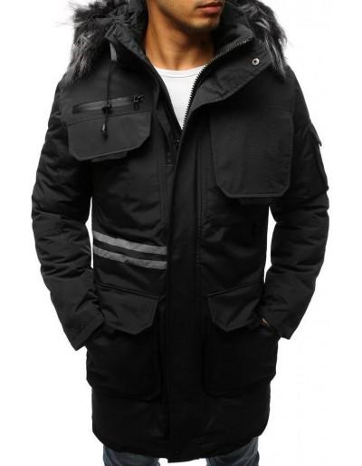 Pánská zimní černá bunda TX3043