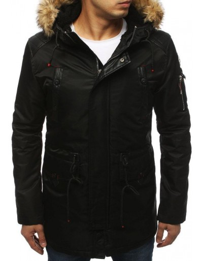 Pánská zimní černá bunda TX3044
