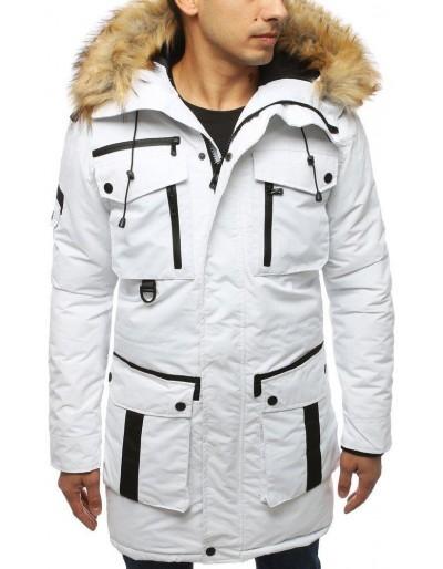 Bílá pánská zimní bunda TX3047