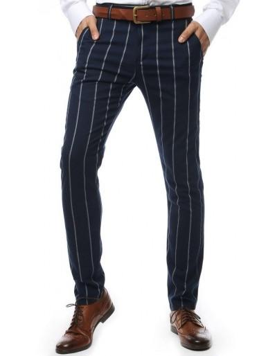Tmavě modré pánské kalhoty s pruhy UX2147