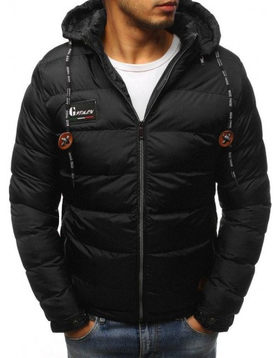 Pánská prošívaná zimní bunda černá TX3071