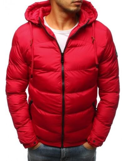 Červená pánská prošívaná zimní bunda TX3079