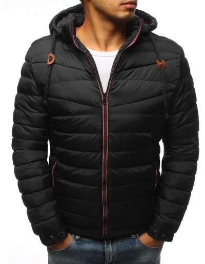 Pánská prošívaná zimní bunda černá TX3081