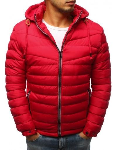 Červená pánská prošívaná zimní bunda TX3084