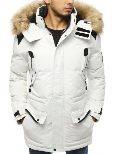 Bílá pánská zimní bunda TX3109