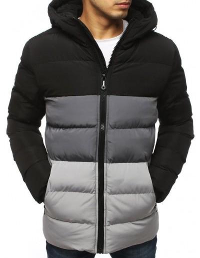 Pánská prošívaná zimní bunda černá TX3112