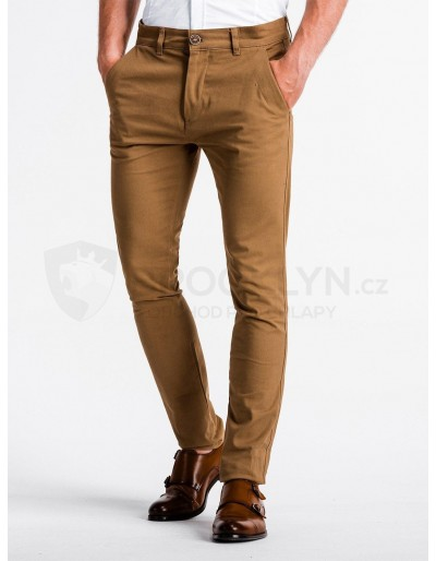 Pánské kalhoty chinos P830 - velbloud