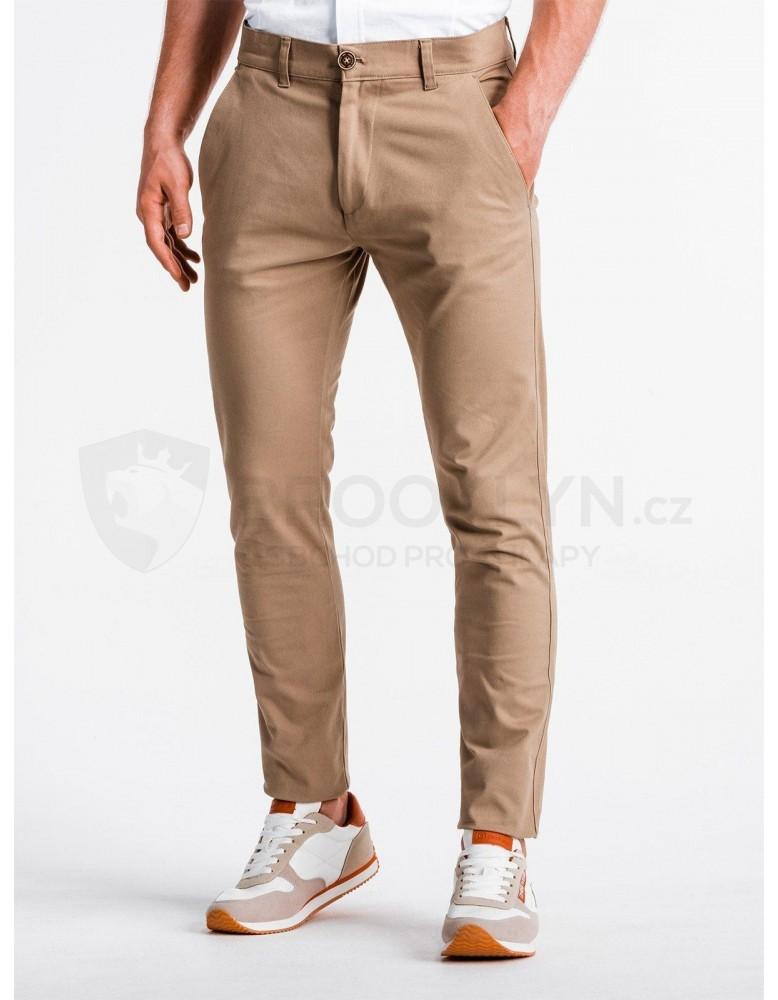 Pánské kalhoty chinos P830 - béžové