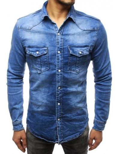 Pánská riflová modrá košile DX1789