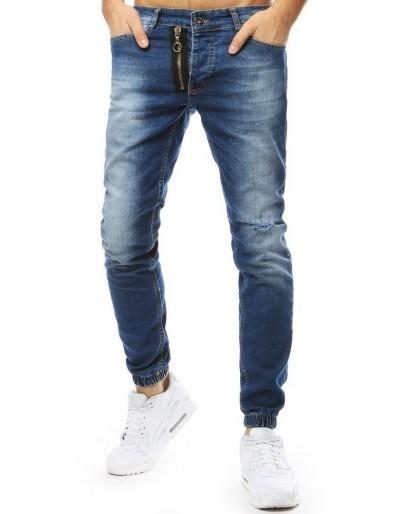 Pánské džínové běžecké kalhoty modré UX2178