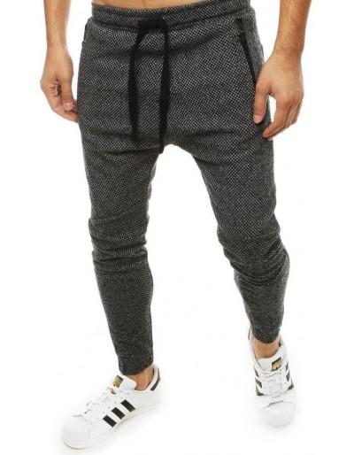 Tmavě šedé pánské běžecké kalhoty UX2184