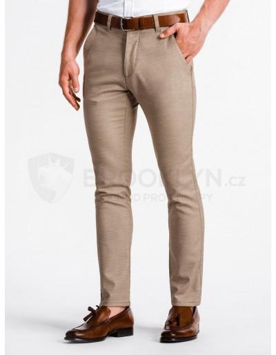 Pánské kalhoty chinos P831 - hnědé