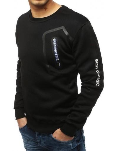 Černá pánská mikina bez kapuce BX4254