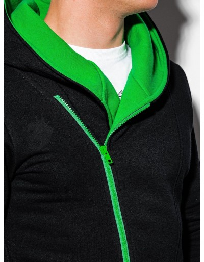 Men's zip-up hoodie PRIMO - black/green