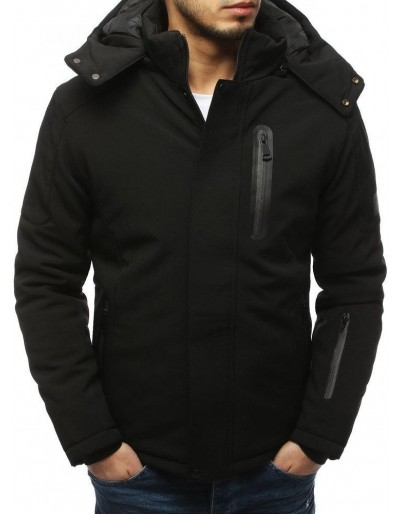 Pánská zimní černá bunda TX3124