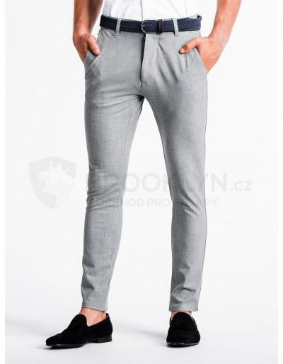 Pánské kalhoty chinos P832 - světle šedé