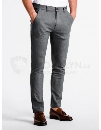 Pánské kalhoty chinos P832 - šedé