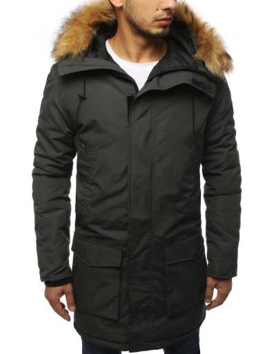 Pánská zimní bunda, tmavě šedá TX3129
