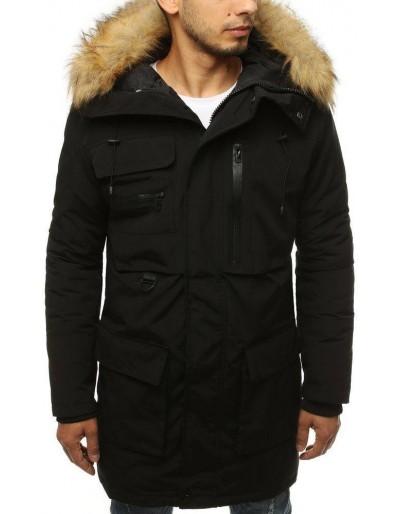 Pánská zimní černá bunda TX3136