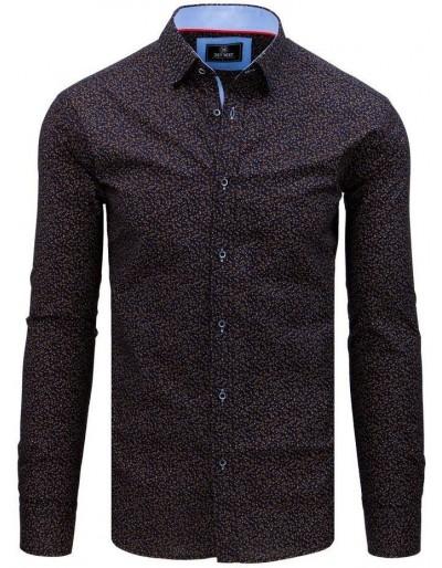 Pánské tričko PREMIUM s dlouhým rukávem v tmavě modré barvě DX1794