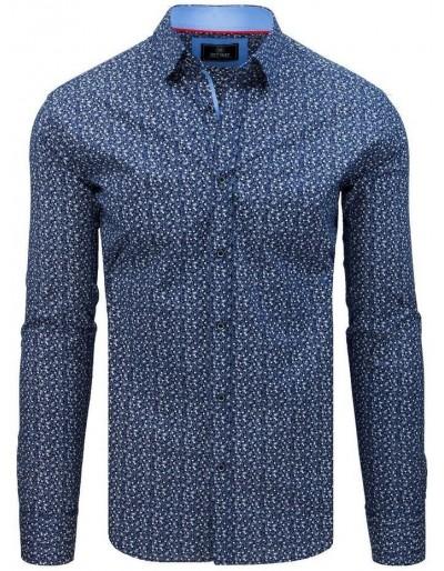 Pánské tričko PREMIUM s dlouhým rukávem modré DX1799