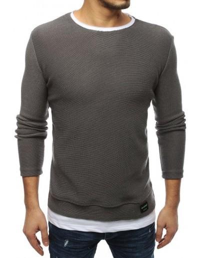 Tmavě šedý pánský svetr WX1451
