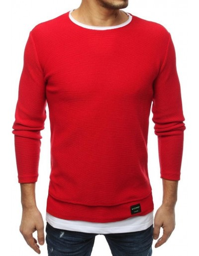 Červený pánský svetr WX1454