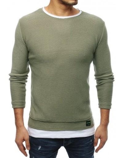 Khaki pánský svetr WX1457