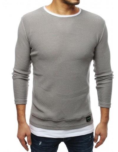 Světle šedý pánský svetr WX1458
