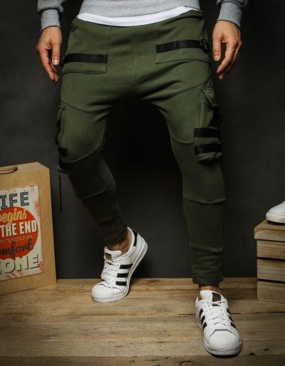 Pánské khaki kalhoty UX2234
