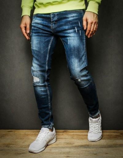 Pánské modré džínové kalhoty UX2235