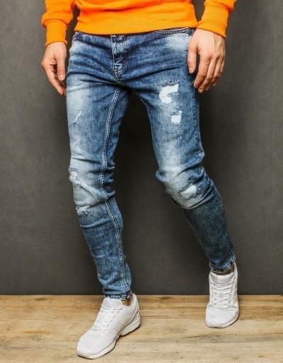 Pánské modré džínové kalhoty UX2236