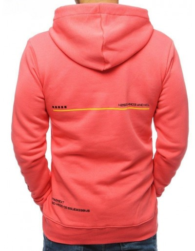 Bluza męska PREMIUM z kapturem koralowa BX4346