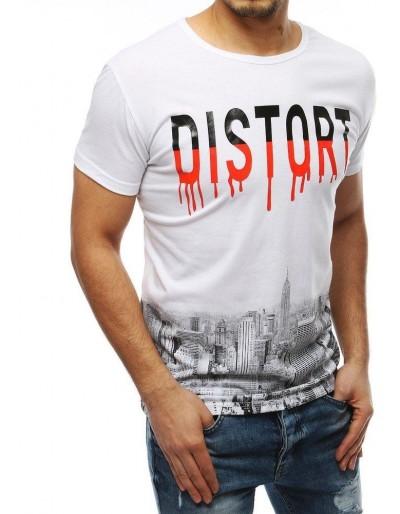 Bílé pánské tričko RX3883