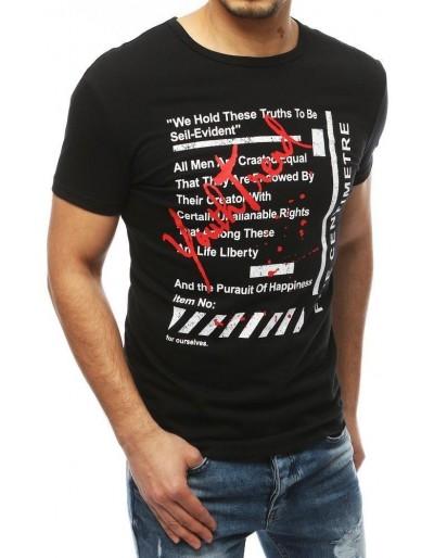 Černé pánské tričko RX3891 s potiskem