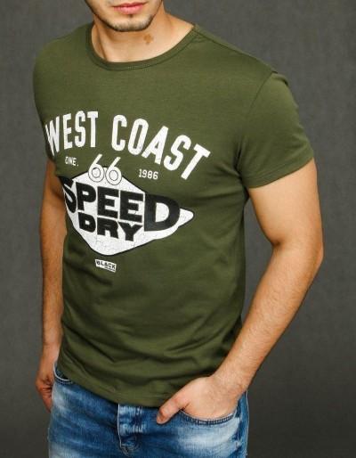 Zelené pánské tričko s potiskem RX3893